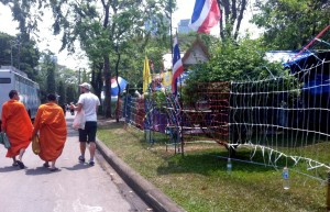 Monks in protest site bangkok