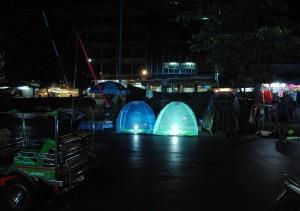 Bangkok Protesters at night
