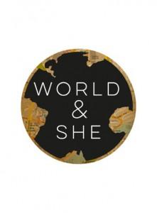World & She website logo