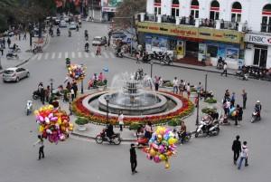 Hanoi vietnam roundabou