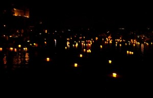 Hoi An Lanterns on River Earth Hour 2015