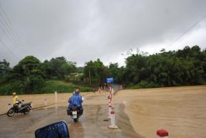 Vietnam Central Highlands River Flooding Road Motorbike