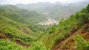 View of a Small Vietnamese Countryside Village