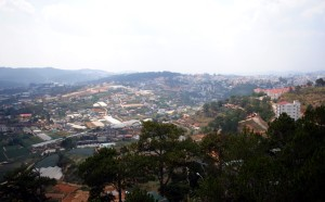 View of Da Lat, Vietnam from Cable Car