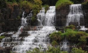 Pongor Waterfall Da Lat Vietnam with bathers
