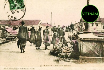 Cholon Vintage postcard