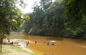 Taman Negara Bathing in River
