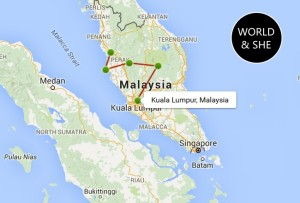 Three Weeks in Malaysia Route Map