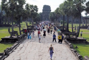 Walkway Approach to Angkor Wat Temple