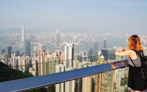 Hong Kong Peak View of City