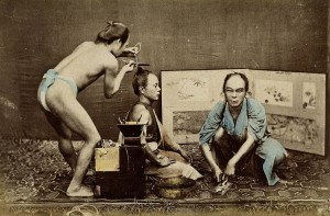 Japanese Male Hairdresser | © Wellcome Library, London. Wellcome Images