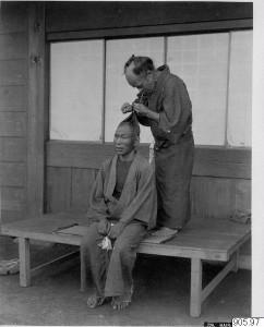 Japanese Male Hairdresser   ©Statens museer för världskultur