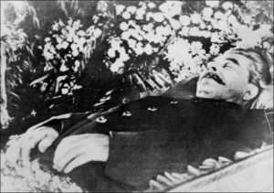 Stalin laying in state in Moscow in 1953. (AFP/Getty Images)