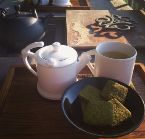 Jiufen Sky and Dragon Teahouse Tea and Cookies