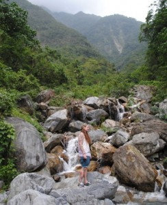 Su Hua Highway Waterfall View