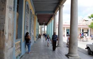 Holguin Parque Calixto Garcia Sidewalk
