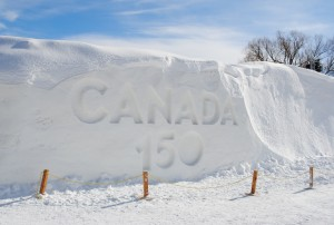 Canada 150 Snow Sculpture at Winterlude 2017